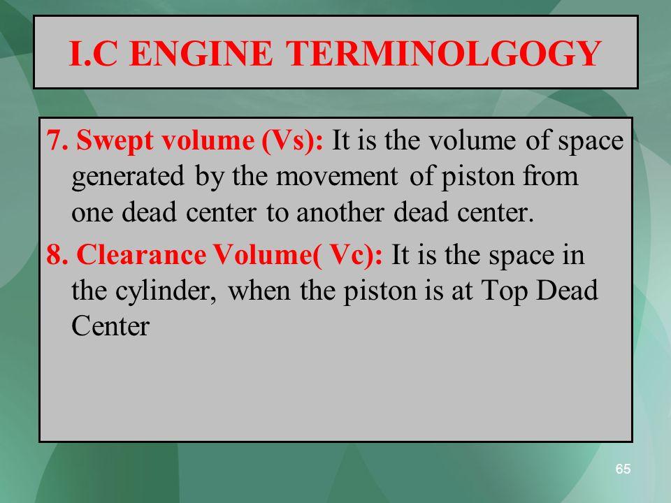 I.C ENGINE TERMINOLGOGY