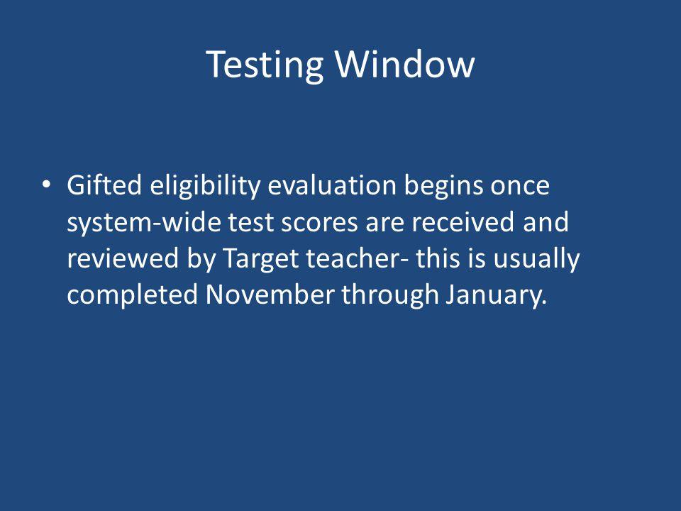 Testing Window