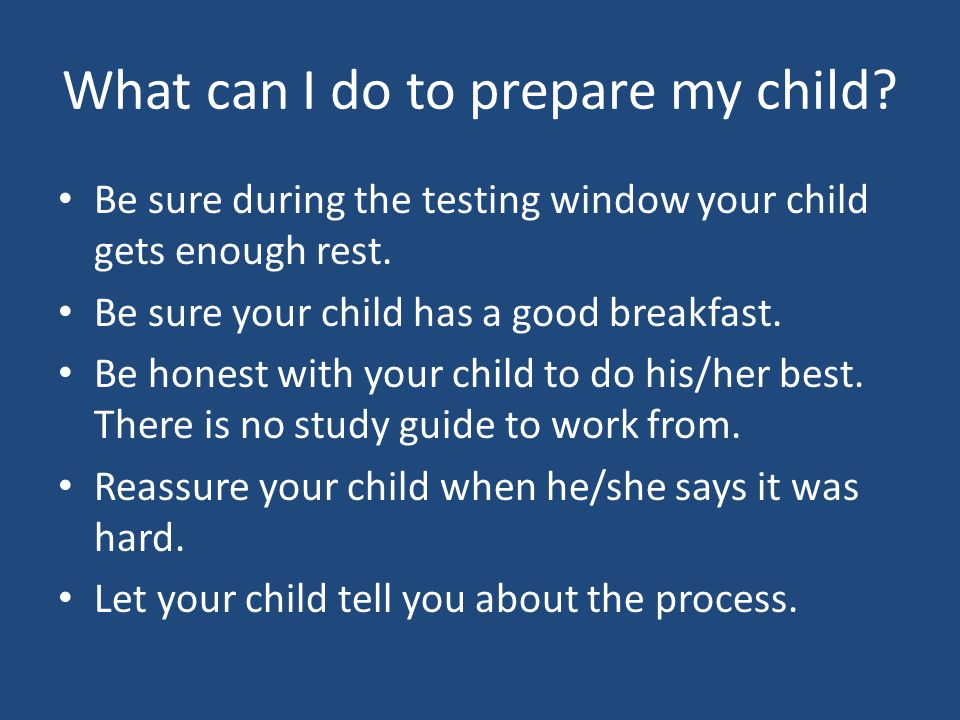What can I do to prepare my child