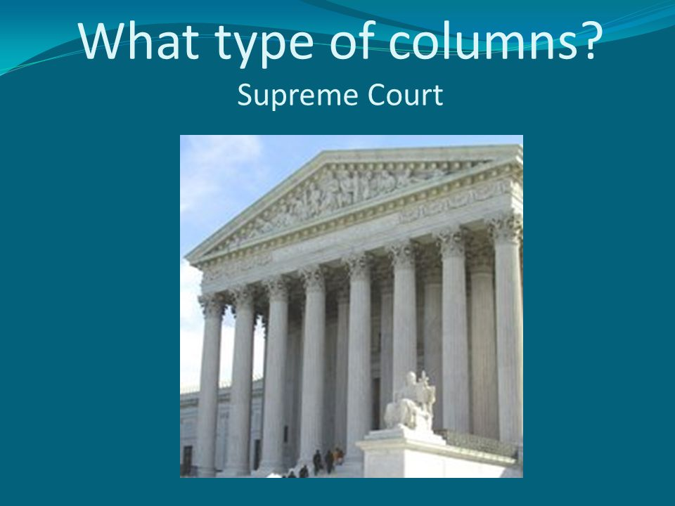 What type of columns Supreme Court