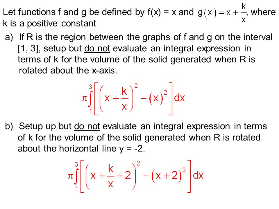 Let functions f and g be defined by f(x) = x and , where