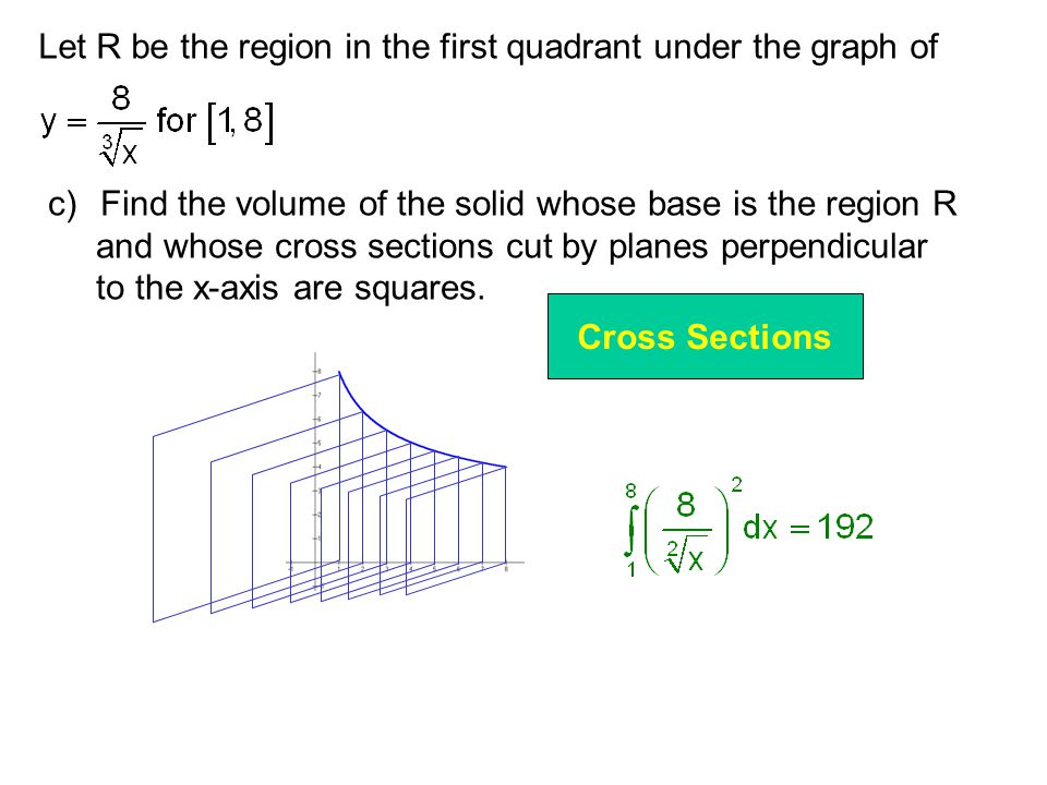 Let R be the region in the first quadrant under the graph of