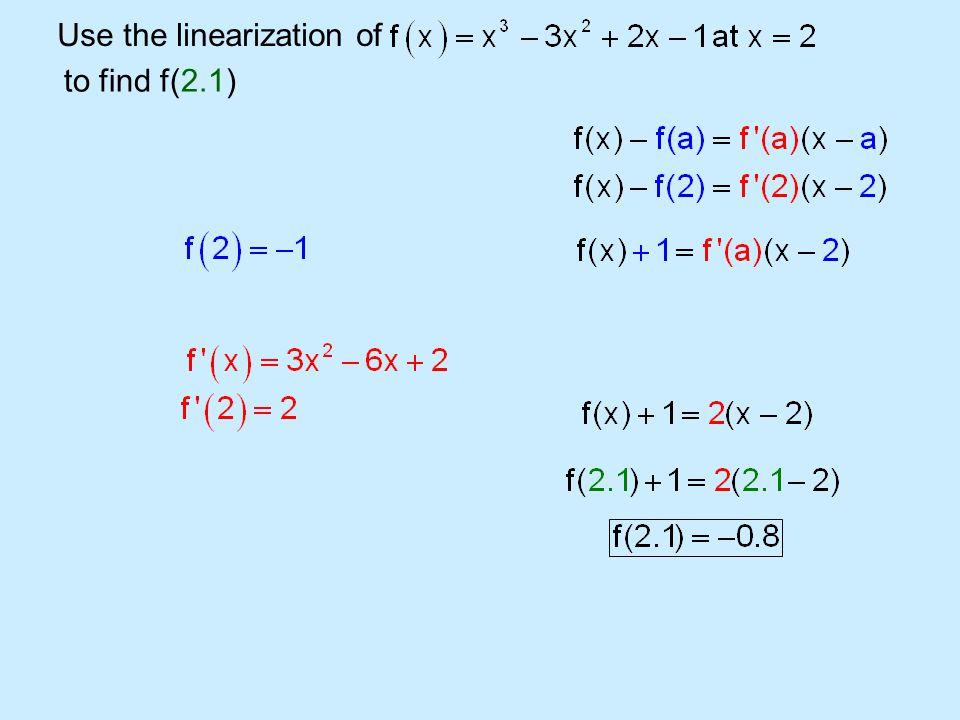 Use the linearization of