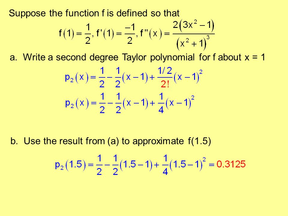 Suppose the function f is defined so that