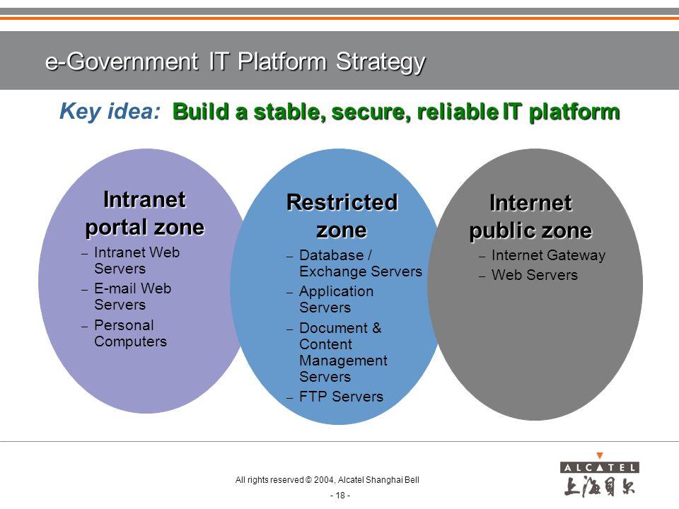 e-Government IT Platform Strategy