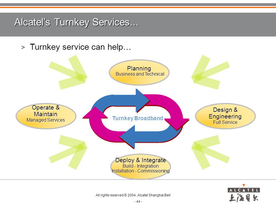 Alcatel's Turnkey Services...
