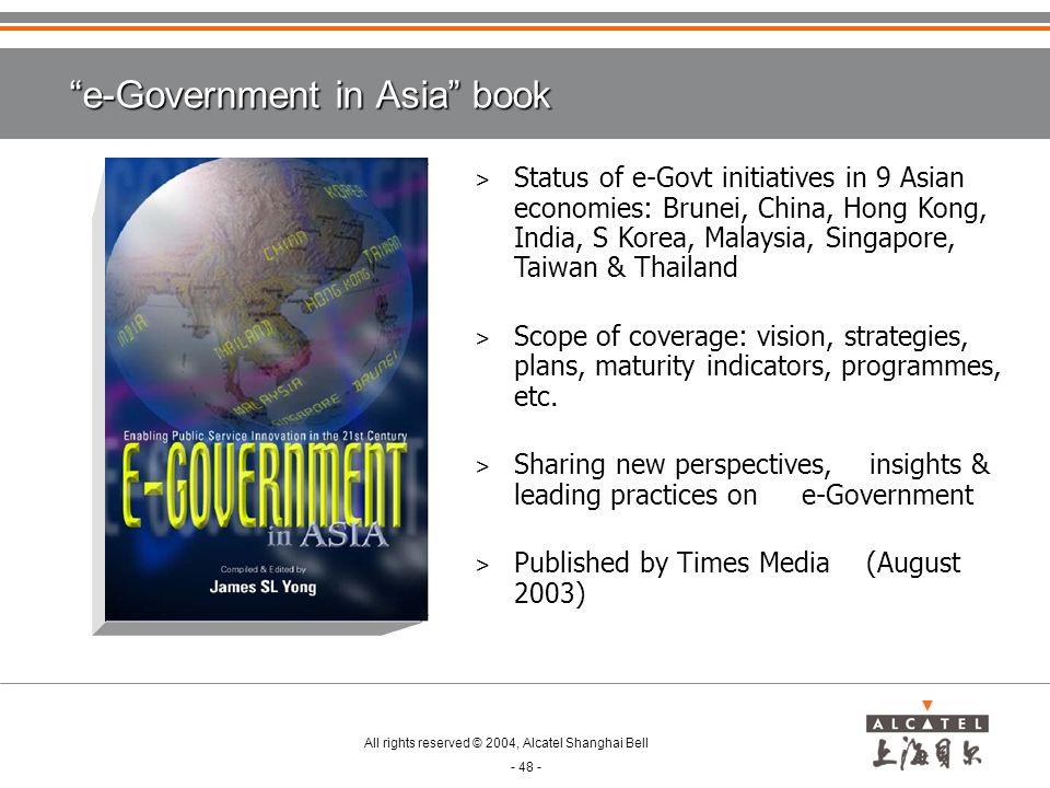 e-Government in Asia book