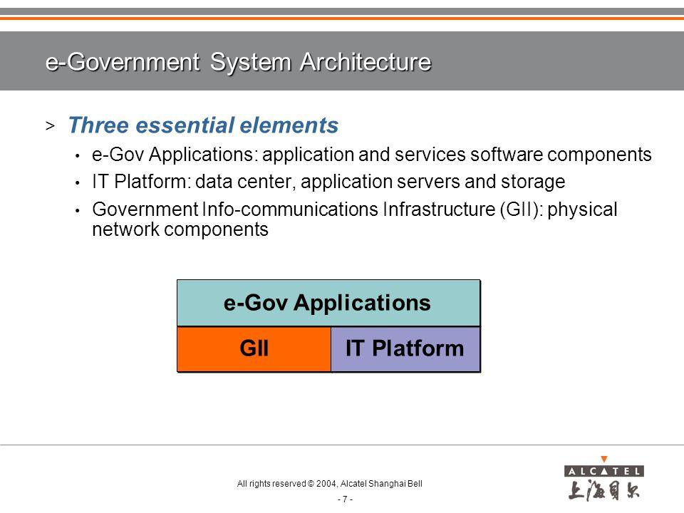 e-Government System Architecture