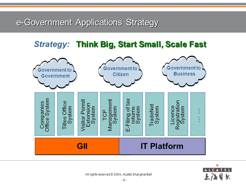 e-Government Applications Strategy