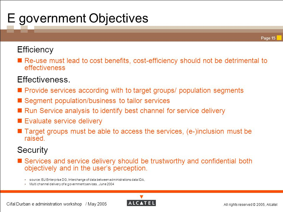 E government Objectives