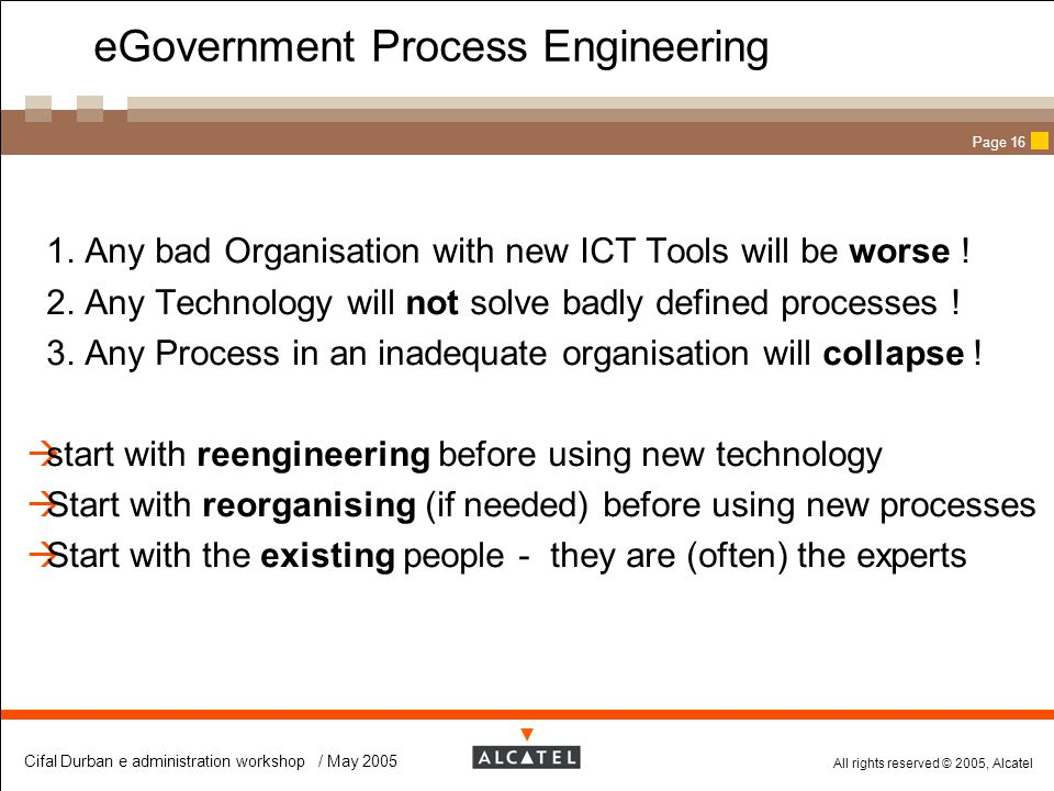 eGovernment Process Engineering
