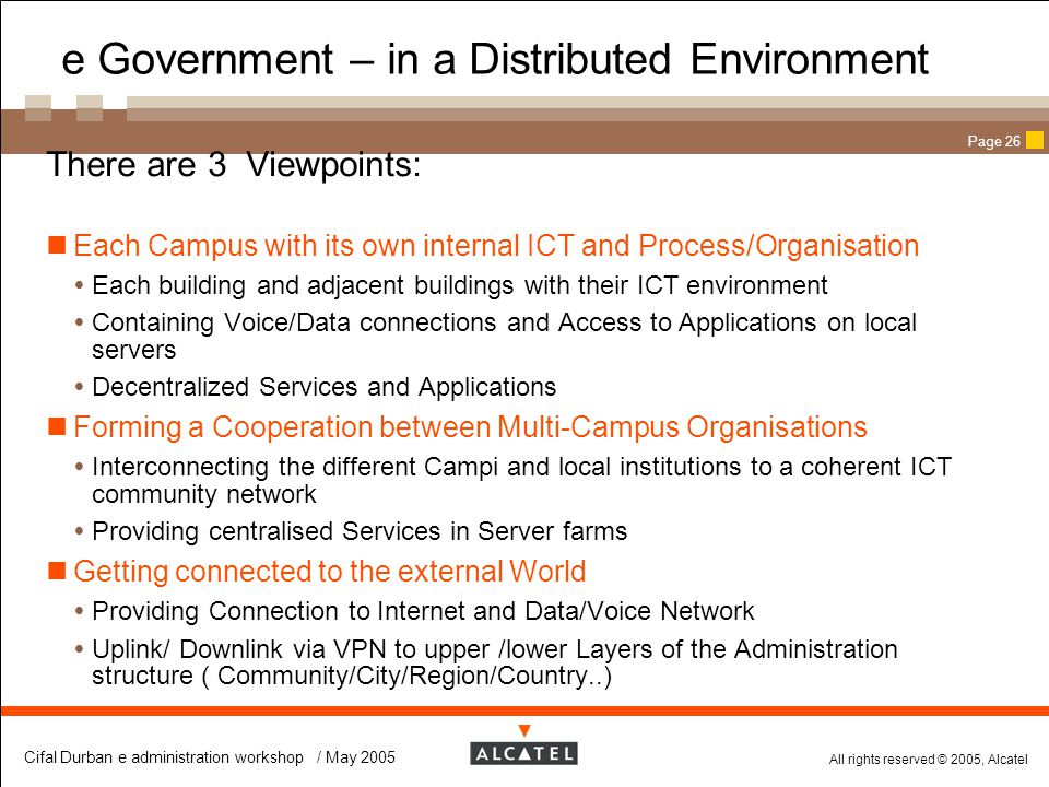 e Government – in a Distributed Environment