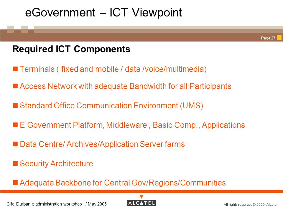 eGovernment – ICT Viewpoint