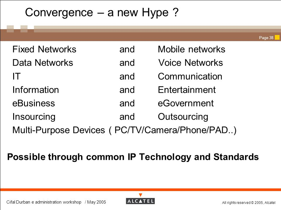 Convergence – a new Hype