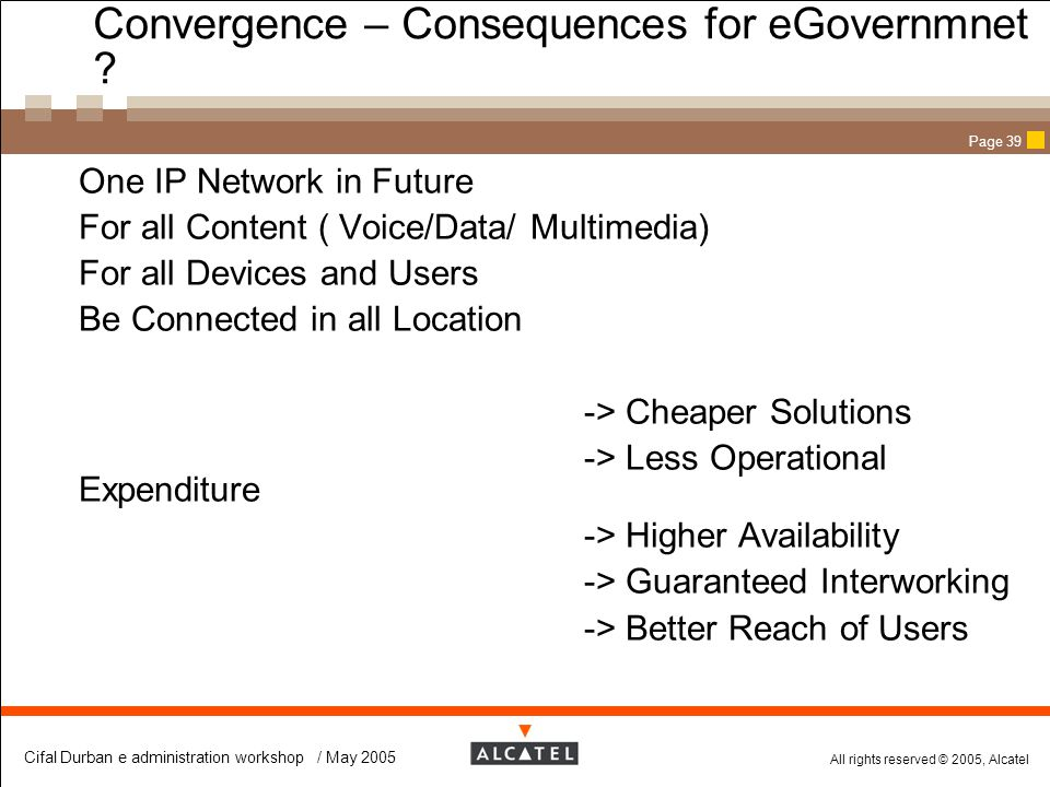 Convergence – Consequences for eGovernmnet