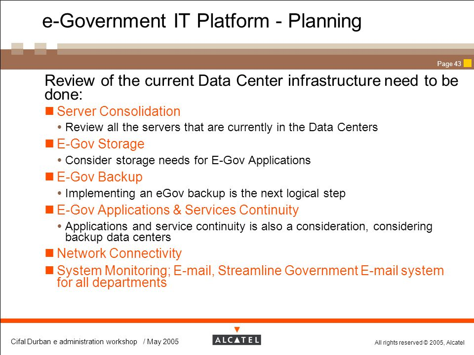 e-Government IT Platform - Planning