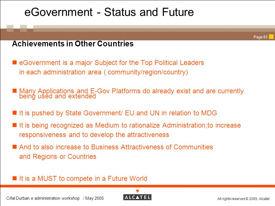 eGovernment - Status and Future