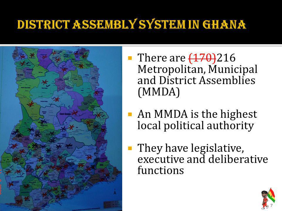 DISTRICT ASSEMBLY SYSTEM IN GHANA