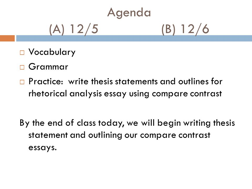 comparative thesis outline