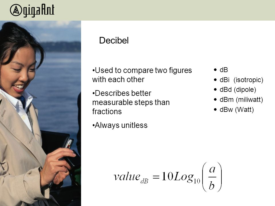 Decibel Used to compare two figures with each other