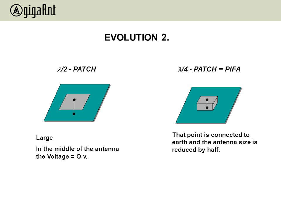 EVOLUTION 2. /2 - PATCH /4 - PATCH = PIFA