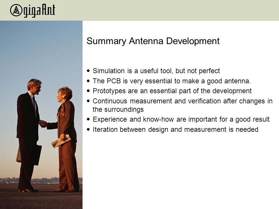 Summary Antenna Development