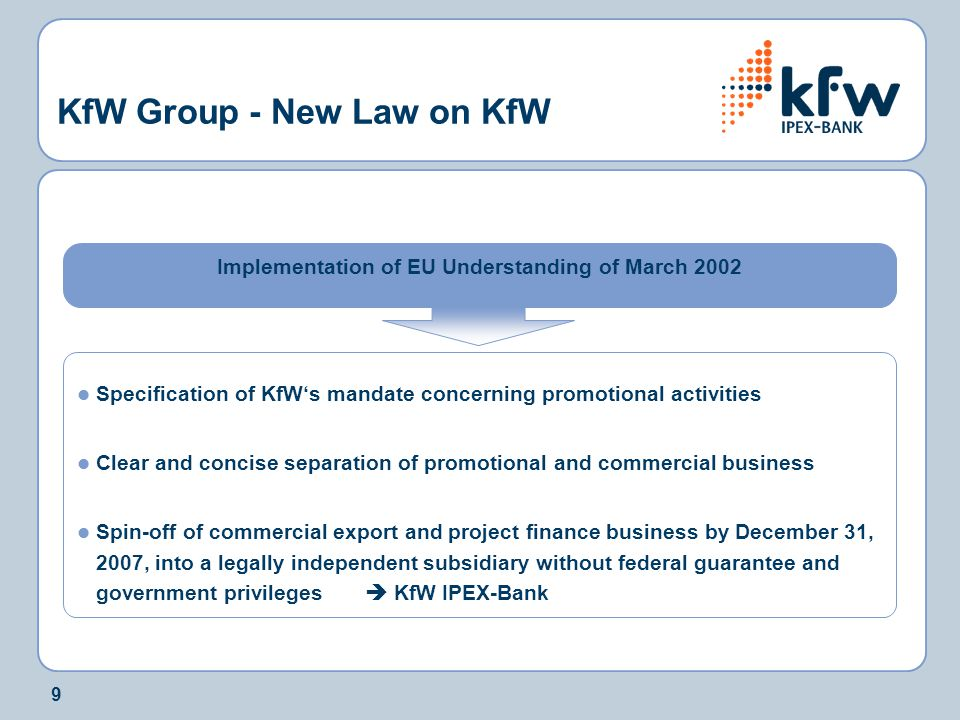 KfW Group - New Law on KfW