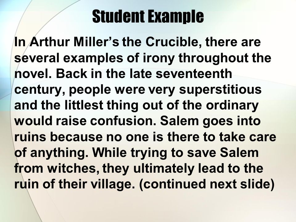 an evaluation of the crucible a play by arthur miller The crucible takes place in salem, massachusetts in 1692 the crucible arthur miller buy share buy home literature notes the crucible play summary table of contents all subjects play summary about the crucible character list.