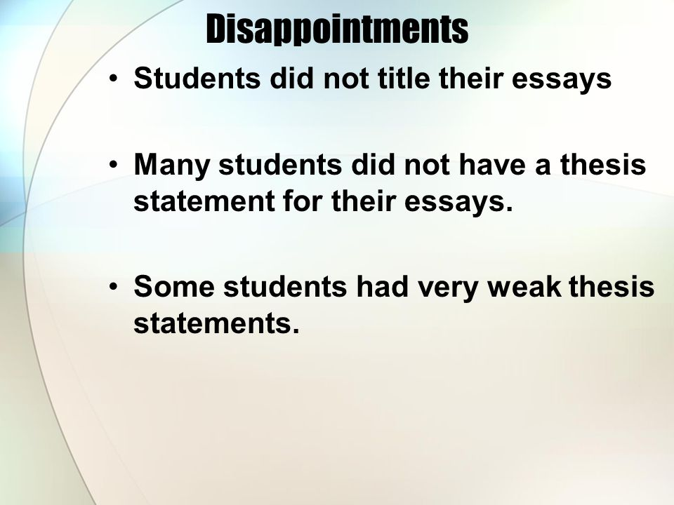 the crucible evaluation and good night and good luck assignment disappointments students did not title their essays