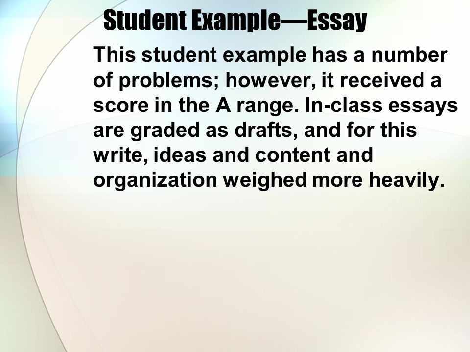 Student Example—Essay