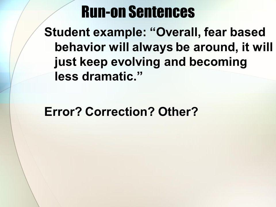 Run-on Sentences