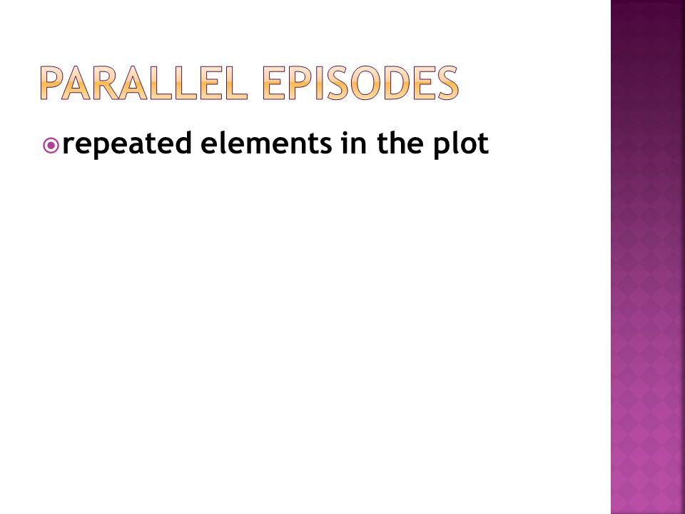 Parallel Episodes repeated elements in the plot