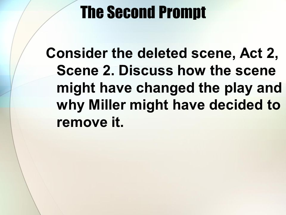 The Second Prompt