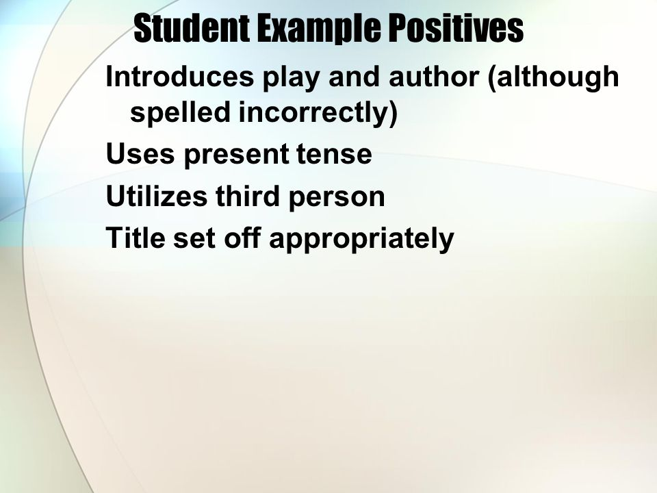 Student Example Positives