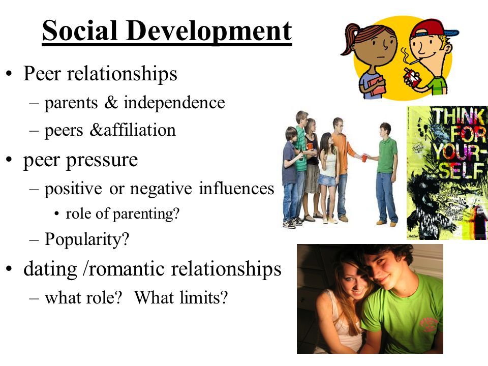 Social Development Peer relationships peer pressure