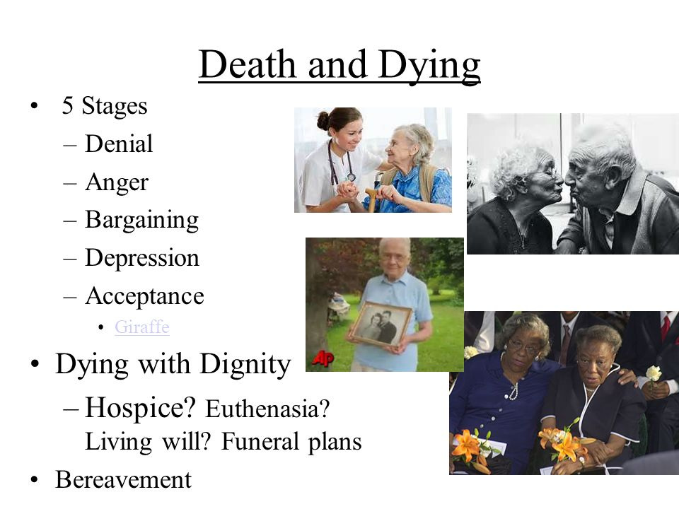 Death and Dying Dying with Dignity