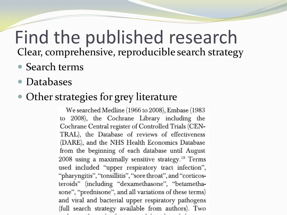 Find the published research
