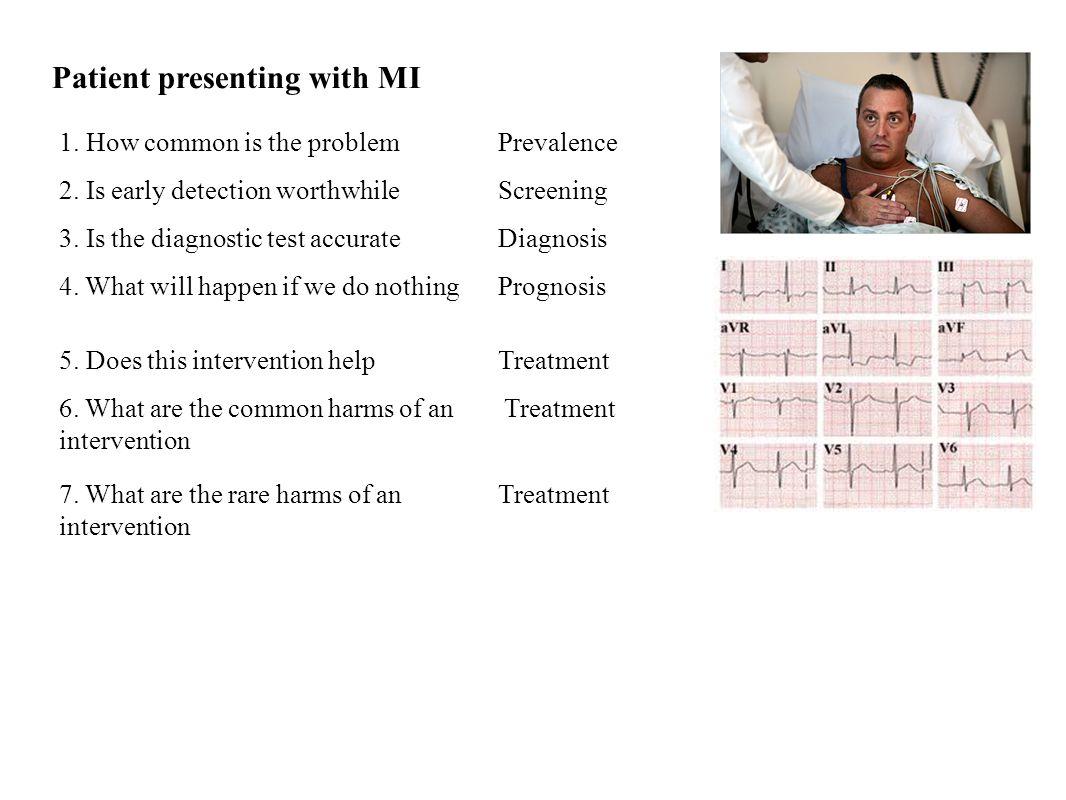 Patient presenting with MI