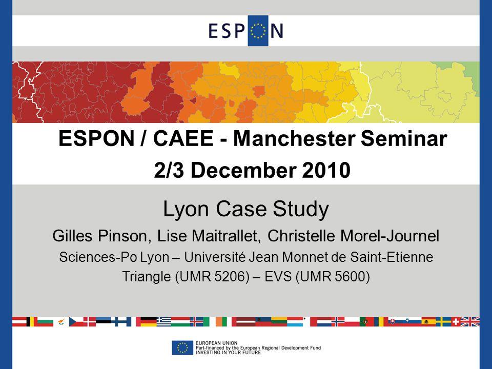 ESPON / CAEE - Manchester Seminar