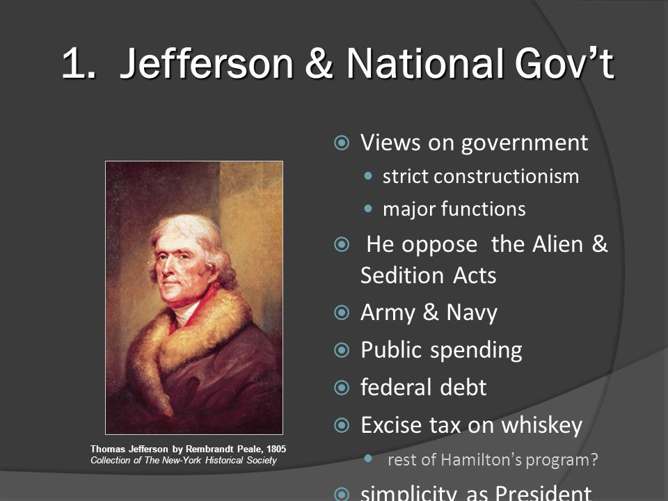 Jefferson & National Gov't