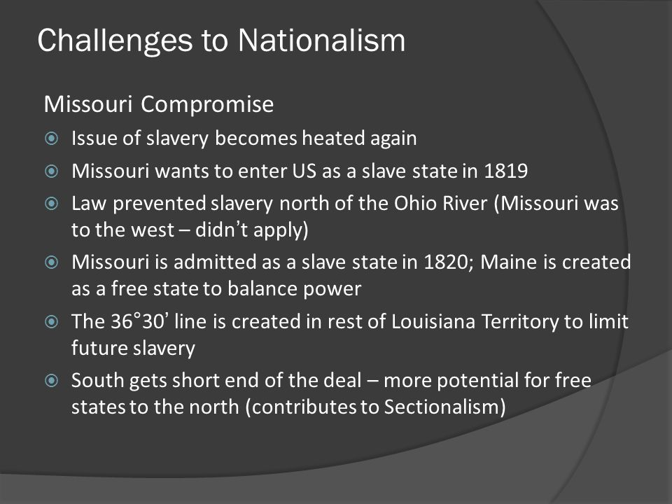 Challenges to Nationalism