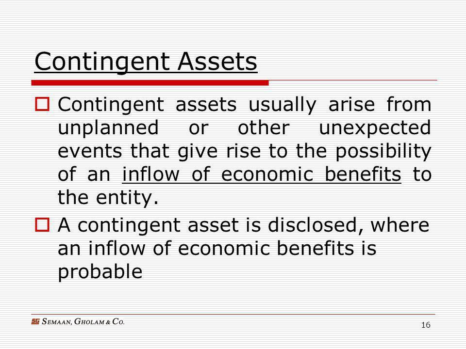 Contingent Assets