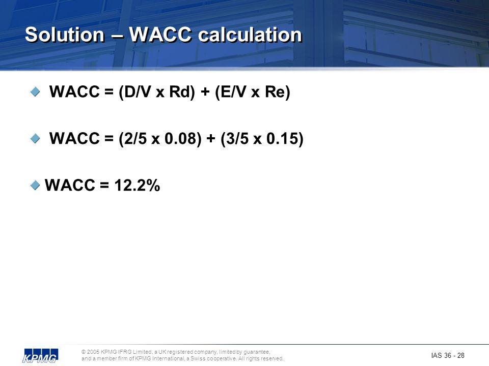Solution – WACC calculation