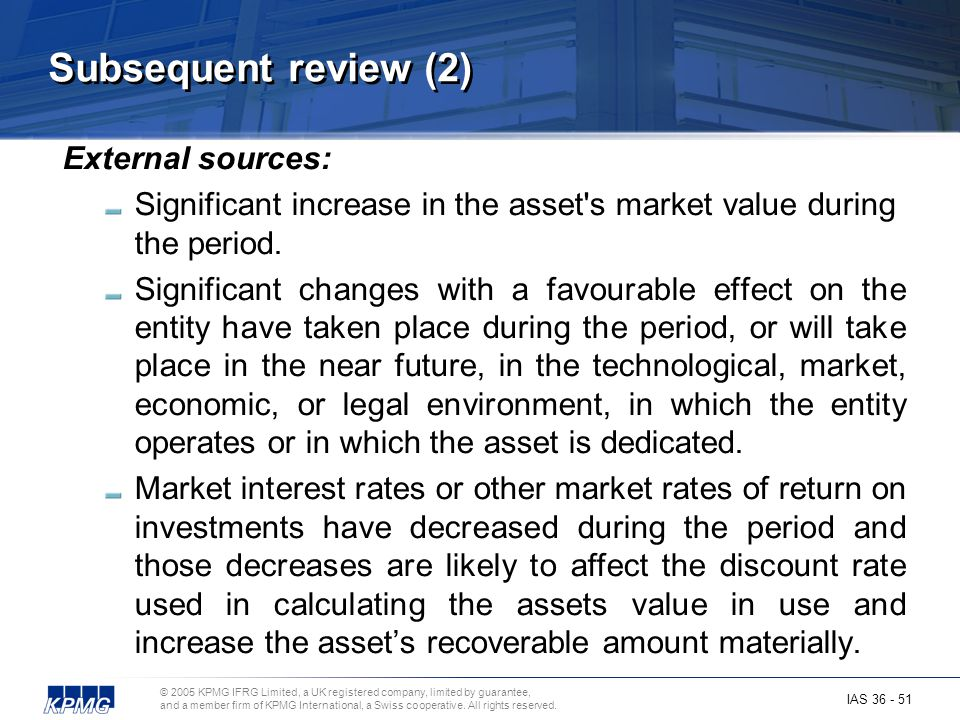 Subsequent review (2) External sources: