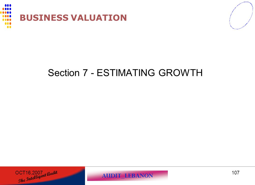 Section 7 - ESTIMATING GROWTH