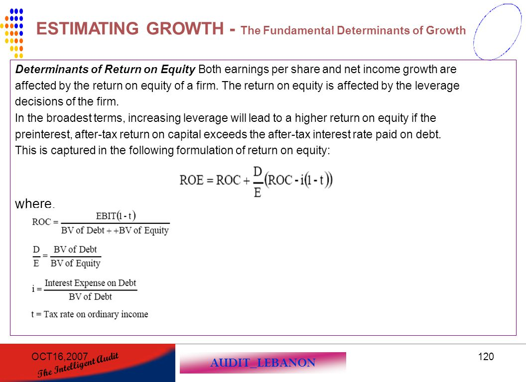 ESTIMATING GROWTH - The Fundamental Determinants of Growth