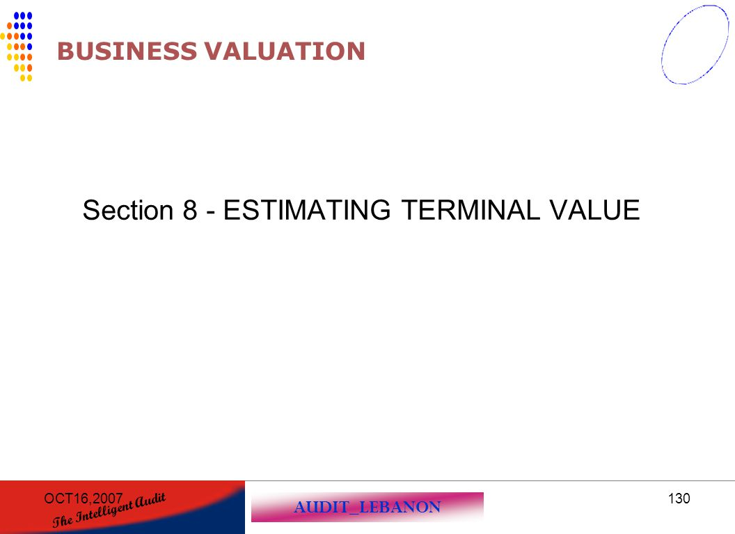 Section 8 - ESTIMATING TERMINAL VALUE