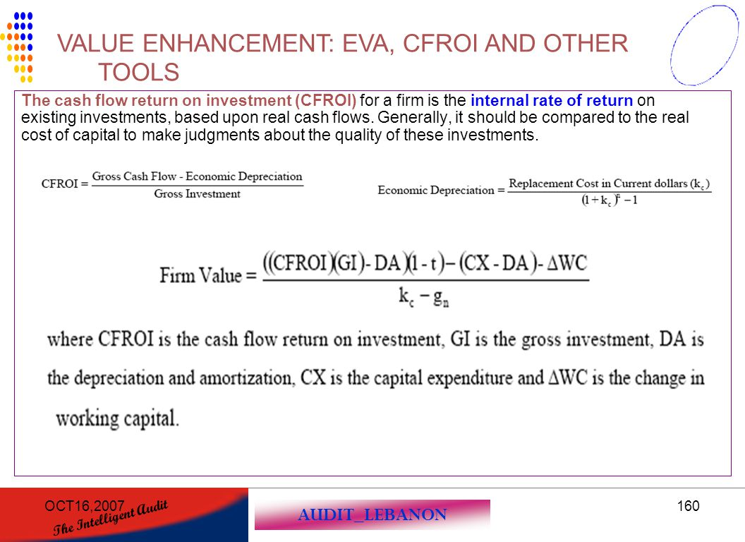 VALUE ENHANCEMENT: EVA, CFROI AND OTHER TOOLS