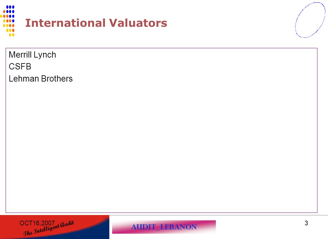 International Valuators