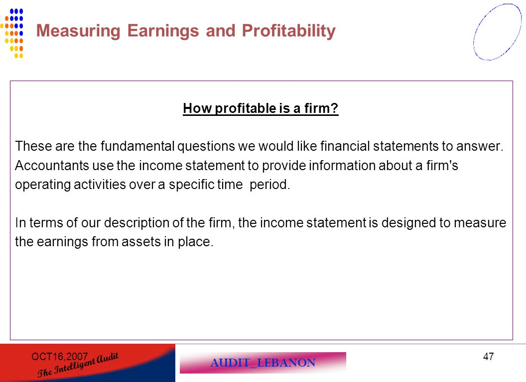How profitable is a firm